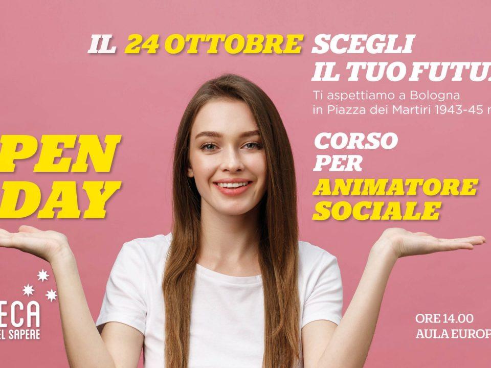 Open day 24 Ottobre 2019 corso animatore sociale